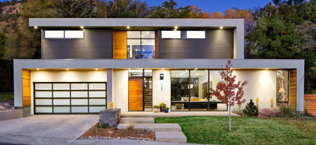 Contemporary Collaboration - Melton Design Build - Sopher Sparn - Front Exterior