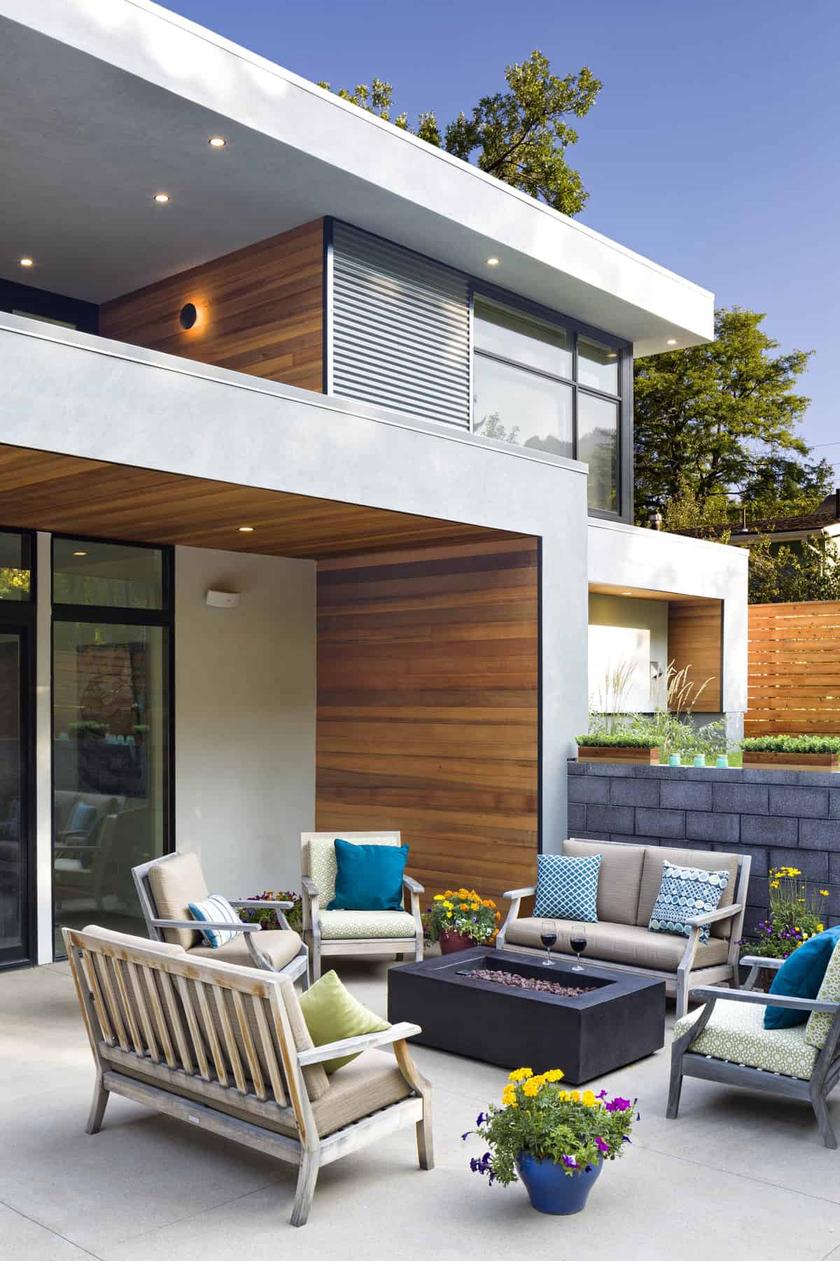 Contemporary Collaboration - Rear Exterior Patio Vignette Photo - Melton Design Build
