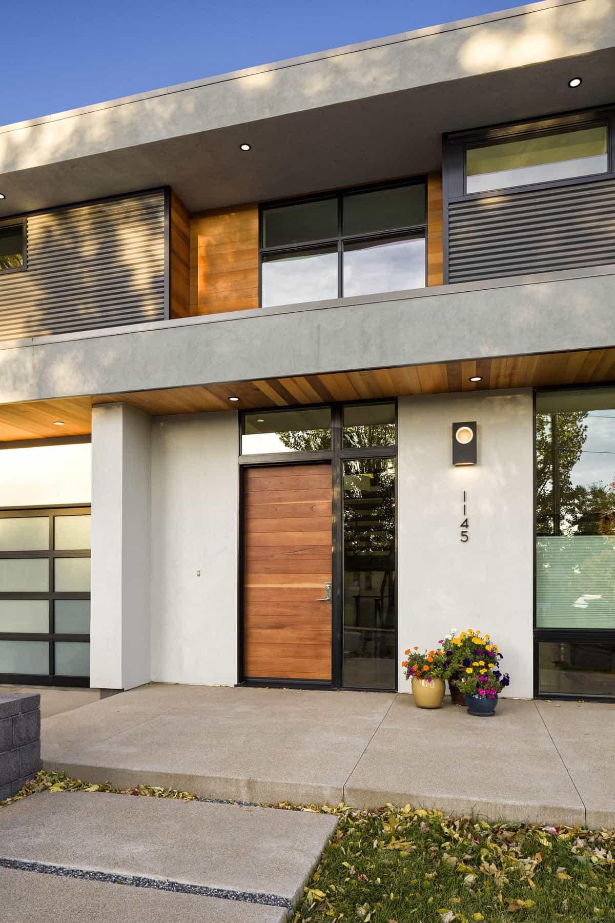 Contemporary Collaboration - Exterior Entry Vignette Photo - Melton Design Build
