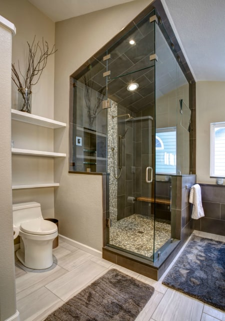 Melton Design Build Contemporary Bathroom Remodel