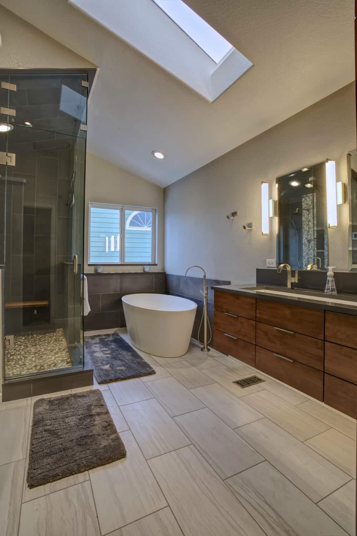 Niwot Master Bathroom Remodel - Melton Design Build - Vanity Bath and Shower