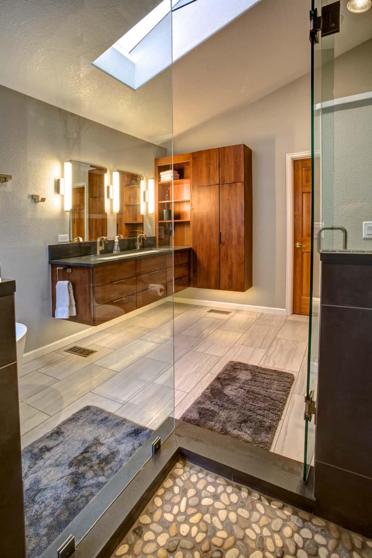 Niwot Master Bathroom Remodel - Melton Design Build - View from the shower