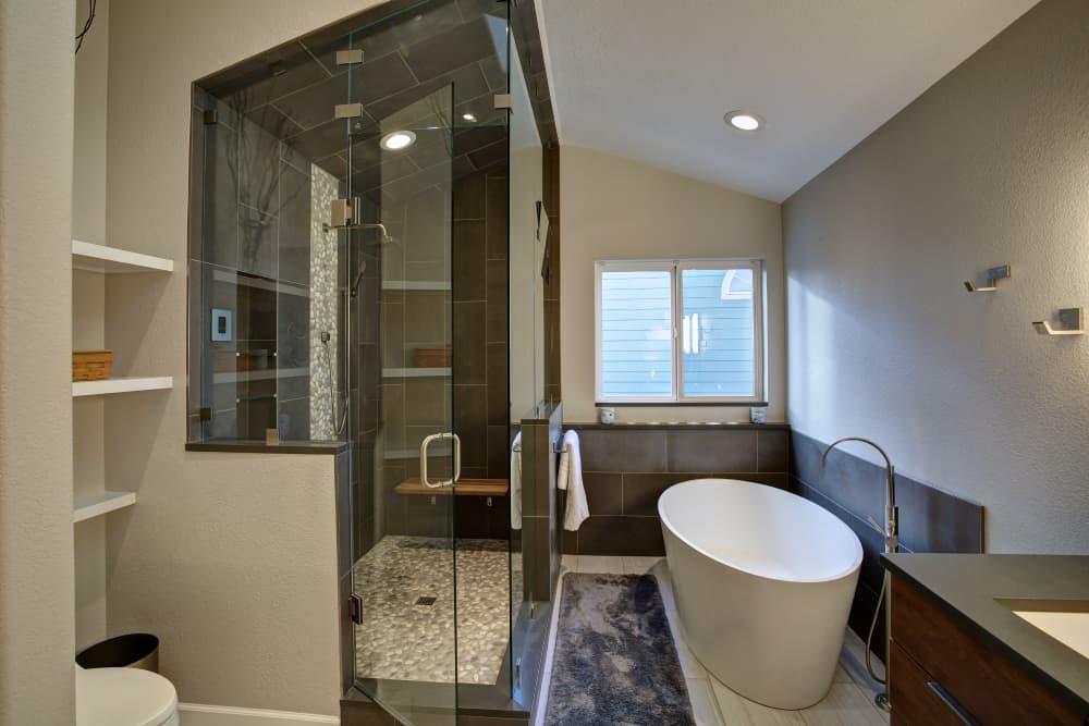 Niwot Master Bathroom Remodel - Melton Design Build - Shower and Tub