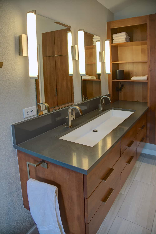 Niwot Master Bathroom Remodel - Melton Design Build - Trough Sink