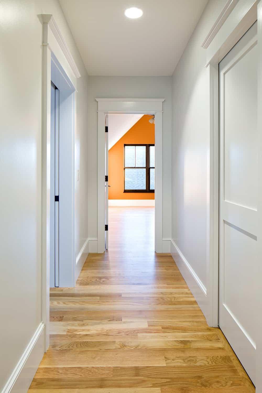 Boulder Historical Home Remodel - Hallway and orange room