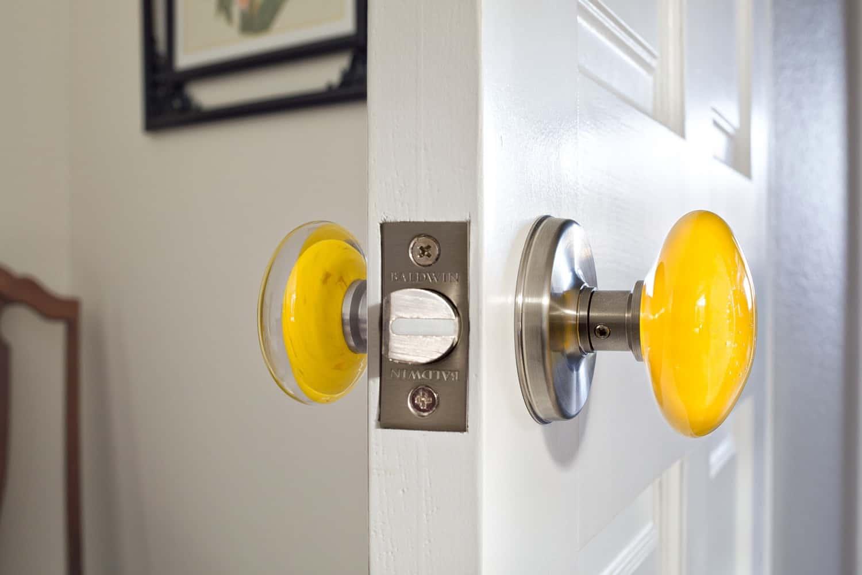 Melton Design Build - Louisville Remodel - Custom Glass Doorknobs
