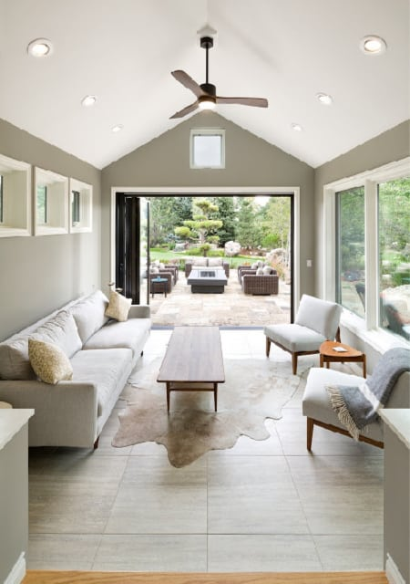 Melton Design Build Bright Airy Living Room to Patio
