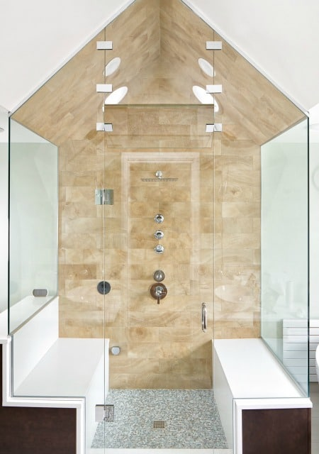 Melton Design Build Transitional Victorian Bathroom Steam Shower