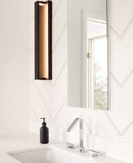 Melton Design Build Modern Contemporary White Tile Bathroom