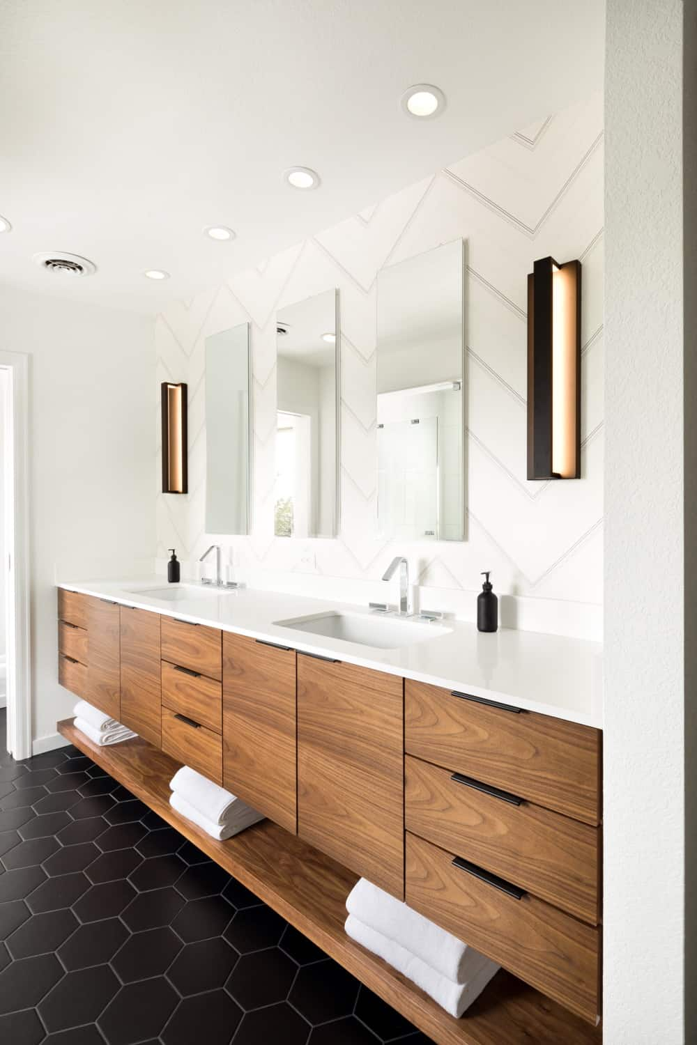 Melton Design Build Boulder Colorado Contemporary Bathroom Modern Tile Light Fixtures
